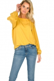 JC Sophie |  Blouse with pleat details Ava | ochre  | Picture 4