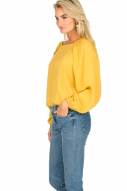 JC Sophie |  Blouse with pleat details Ava | ochre  | Picture 6