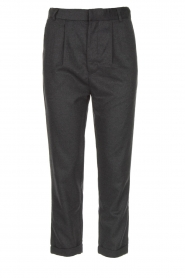 JC Sophie |  Cropped high-waist trousers Annemarie | grey  | Picture 1