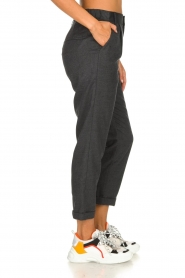 JC Sophie |  Cropped high-waist trousers Annemarie | grey  | Picture 5