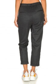 JC Sophie |  Cropped high-waist trousers Annemarie | grey  | Picture 6
