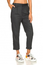 JC Sophie |  Cropped high-waist trousers Annemarie | grey  | Picture 4
