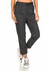 JC Sophie |  Cropped high-waist trousers Annemarie | grey  | Picture 2