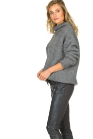 Be Pure |  Turtle neck sweater Olivia | grey  | Picture 4