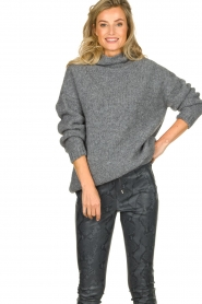 Be Pure |  Turtle neck sweater Olivia | grey  | Picture 2