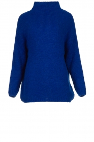 Be Pure |  Knitted sweater with turtle neck Olivia | blue  | Picture 1