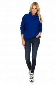 Be Pure |  Knitted sweater with turtle neck Olivia | blue  | Picture 3
