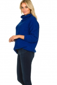 Be Pure |  Knitted sweater with turtle neck Olivia | blue  | Picture 4
