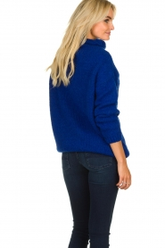 Be Pure |  Knitted sweater with turtle neck Olivia | blue  | Picture 5