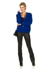 Be Pure | Knitted cardigan Marjolein | blue   | Picture 3