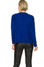 Be Pure | Knitted cardigan Marjolein | blue   | Picture 5