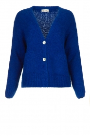 Be Pure | Knitted cardigan Marjolein | blue   | Picture 1