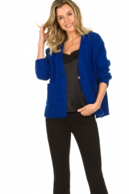 Be Pure | Knitted cardigan Marjolein | blue   | Picture 4