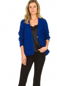 Be Pure | Knitted cardigan Marjolein | blue   | Picture 2
