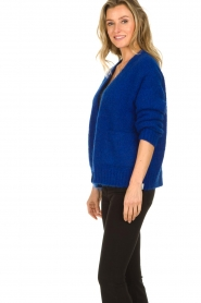 Be Pure | Knitted cardigan Marjolein | blue   | Picture 6