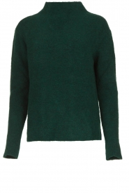 Be Pure |  Knitted turtleneck sweater Maryse | green  | Picture 1
