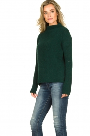 Be Pure |  Knitted turtleneck sweater Maryse | green  | Picture 4