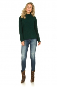 Be Pure |  Knitted turtleneck sweater Maryse | green  | Picture 3