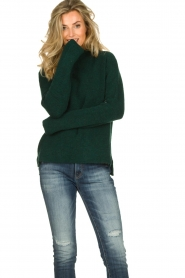 Be Pure |  Knitted turtleneck sweater Maryse | green  | Picture 2