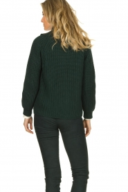 Be Pure | Knitted cardigan Marloes | green  | Picture 5