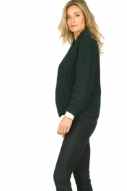 Be Pure | Knitted cardigan Marloes | green  | Picture 4