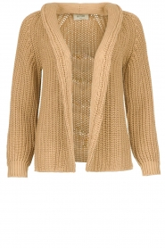 Be Pure | Knitted cardigan Marloes | camel  | Picture 1