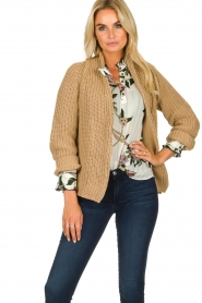Be Pure | Knitted cardigan Marloes | camel  | Picture 6