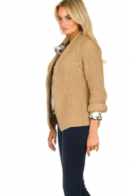 Be Pure | Knitted cardigan Marloes | camel  | Picture 4