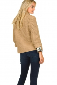 Be Pure | Knitted cardigan Marloes | camel  | Picture 5