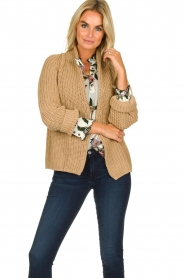 Be Pure | Knitted cardigan Marloes | camel  | Picture 2