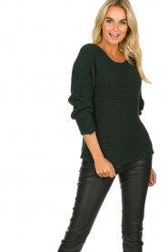 Be Pure | Knitted sweater Amanda | green  | Picture 2