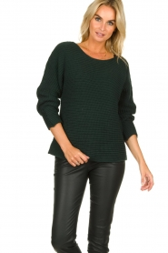 Be Pure | Knitted sweater Amanda | green  | Picture 4
