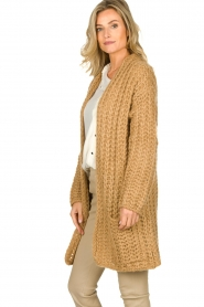 Be Pure |  Chunky knitted cardigan Charly | camel  | Picture 4