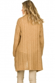 Be Pure |  Chunky knitted cardigan Charly | camel  | Picture 5