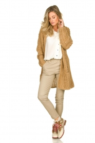 Be Pure |  Chunky knitted cardigan Charly | camel  | Picture 3