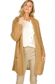 Be Pure |  Chunky knitted cardigan Charly | camel  | Picture 2