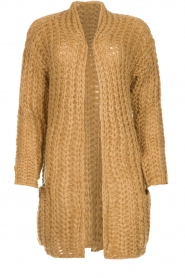 Be Pure |  Chunky knitted cardigan Charly | camel  | Picture 1