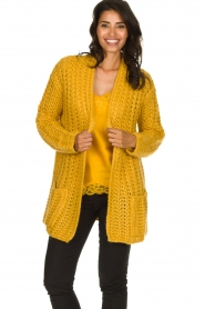 Be Pure |  Chunky knitted cardigan Charly| yellow  | Picture 2
