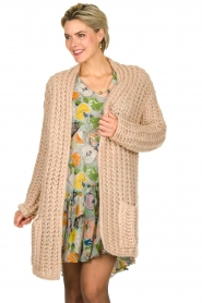 Be Pure |  Chunky knitted cardigan Charly | nude  | Picture 2