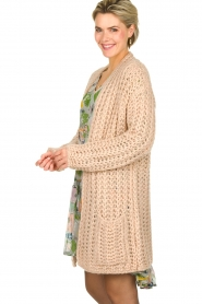 Be Pure |  Chunky knitted cardigan Charly | nude  | Picture 4