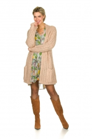 Be Pure |  Chunky knitted cardigan Charly | nude  | Picture 3