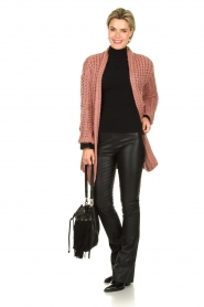 Be Pure |  Chunky knitted cardigan Charly | pink  | Picture 3