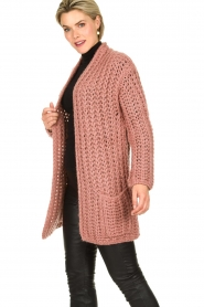 Be Pure |  Chunky knitted cardigan Charly | pink  | Picture 4