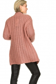 Be Pure |  Chunky knitted cardigan Charly | pink  | Picture 5