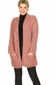 Be Pure |  Chunky knitted cardigan Charly | pink  | Picture 2