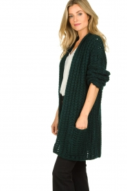Be Pure |  Chunky knitted cardigan Charly | green  | Picture 4