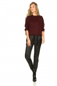 Be Pure | Knitted sweater Babette | burgundy  | Picture 3