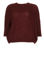 Be Pure | Knitted sweater Babette | burgundy  | Picture 1