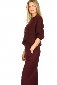 Be Pure | Knitted sweater Babette | burgundy  | Picture 4