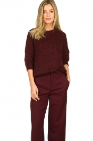 Be Pure | Knitted sweater Babette | burgundy  | Picture 2